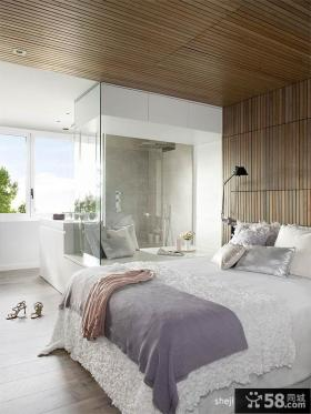 简欧风格主卧室天花板装修效果图