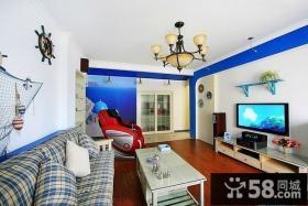 地中海风格电视背景墙装修效果图