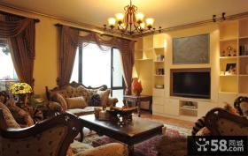 美欧风格客厅电视背景墙设计