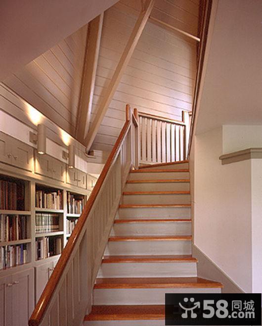 室内阁楼楼梯设计效果图图片