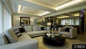 104平米简约风格家装两室两厅装修样板间图片