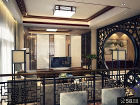2013新中式客厅电视背景墙装修效果图片欣赏