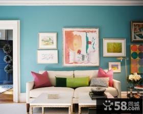70平小户型现代风格客厅装修效果图大全2014图片