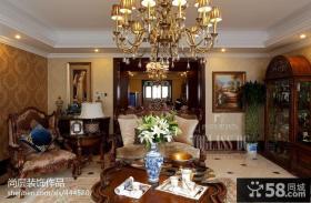 奢华欧式客厅灯具装修图片