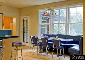 美式乡村风格厨房餐厅一体化图片
