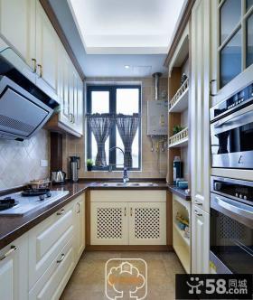 美式风格厨房装修效果图片欣赏