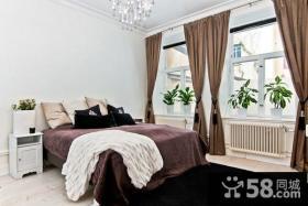 18万打造清新简欧风格装修卧室窗帘效果图大全2012图片