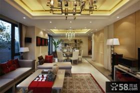 90㎡小户型中式现代婚房装修 领略古典美的客厅