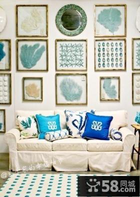 现代风格客厅沙发照片背景墙装修效果图