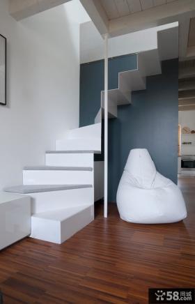 时尚简约风格复式楼梯设计