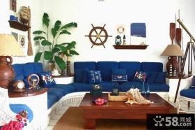 复式楼地中海客厅装修效果图大全2012图片