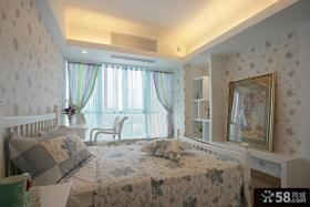 家提卧室装修简欧式花纹墙纸贴图