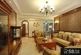 美式风格客厅灯具设计