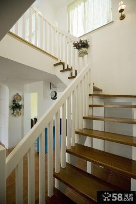 地中海风格复式楼楼梯效果图