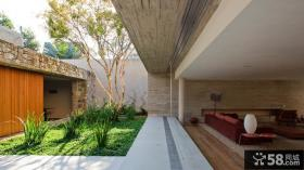 别墅庭院绿化设计效果图
