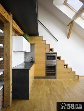 小复式楼厨房阁楼装修效果图大全2014图片