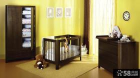 美式风格婴儿床图片