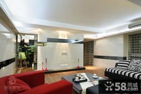 现代客厅石膏电视背景墙装修效果图欣赏