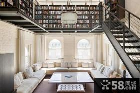 北欧清新的复式楼客厅打造一个温馨的家
