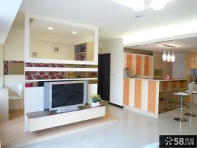 简约日式设计客厅电视背景墙大全