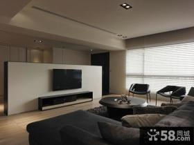 后现代风格三室两厅客厅电视背景墙效果图