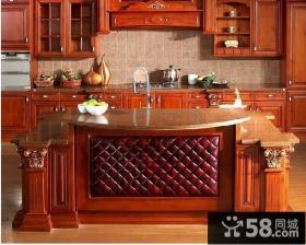 美式风格厨房橱柜大理石台面图片