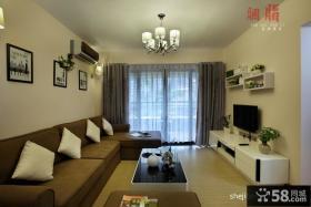 现代整体客厅电视背景墙效果图欣赏