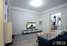 简单小客厅电视背景墙设计图