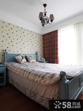 混搭小户型卧室墙纸效果图