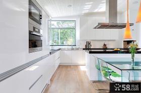 厨房白色橱柜装修效果图片大全