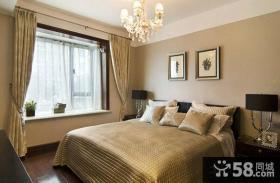 现代欧式风格卧室窗帘效果图