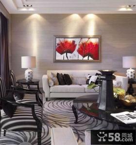 新古典风格客厅沙发背景墙效果图大全