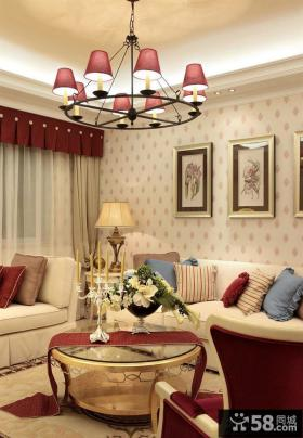 欧式田园客厅家具时尚吊灯图片