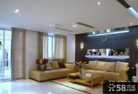 现代风客厅沙发背景墙效果图欣赏