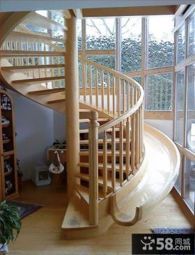 创意原木楼梯设计装修