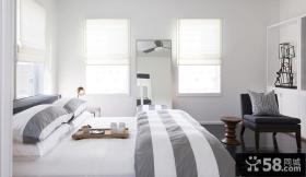 简欧风格白色装修卧室图片