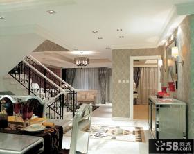 别墅客厅楼梯设计图欣赏