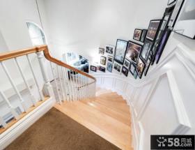 家庭设计楼梯间相片墙效果图大全