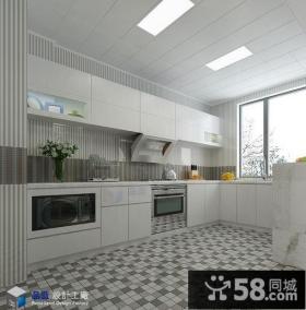 现代厨房集成吊顶装修效果图