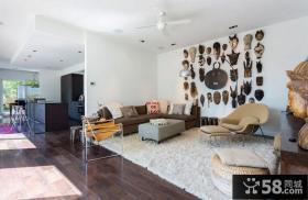 120平三房两厅现代风格卧室装修效果图大全2014图片