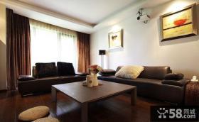 现代中式风格客厅实木茶几图片