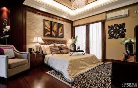 中颐海伦春天别墅样板房 中式古典美的卧室吊顶装修