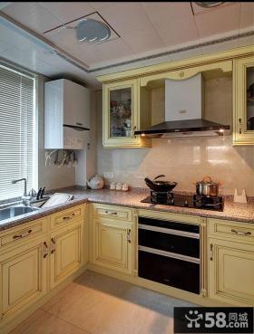 欧式风格厨房图片欣赏大全2014