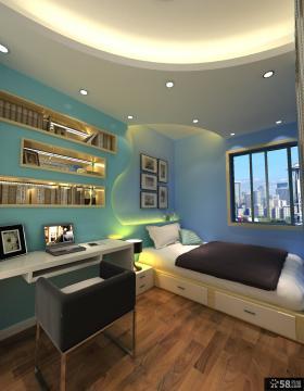 简欧风格复式楼卧室书房装修效果图