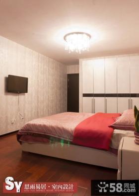 简约风格卧室背景墙壁纸效果图