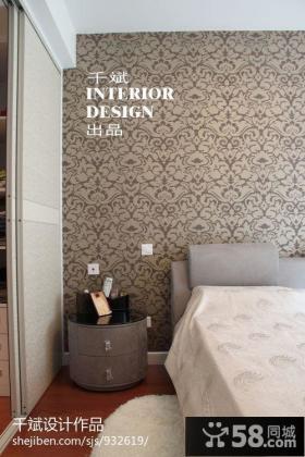 欧式小卧室壁纸背景墙图片