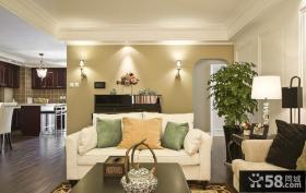 美式家庭设计小客厅效果图欣赏