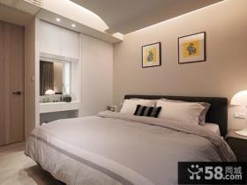 现代简约风格三室两厅时尚卧室装修效果图