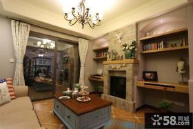 美式田园风格一居室装修设计图片大全