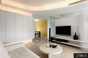 现代家装设计客厅电视背景墙效果图大全